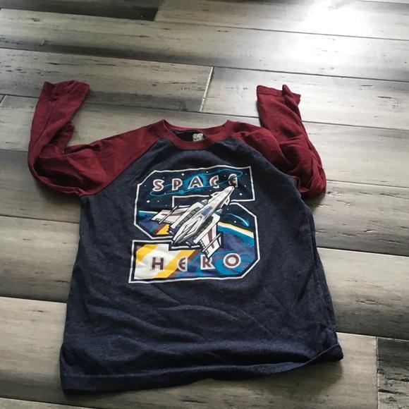 Striped Maroon Sweat Pants Toddler 4T Garanimals Boys One Cool Dude Shirt